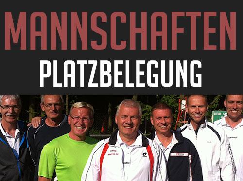 Team-Tennis Mannschaften Platzbelegung
