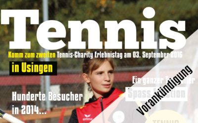 UTHC kündigt zweites Tennis Charity-Event für den 03. September 2016 an