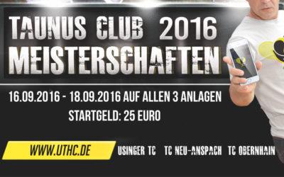 Taunus Clubmeisterschaften vom 16.-18.09.2016 jetzt als LK-Turnier