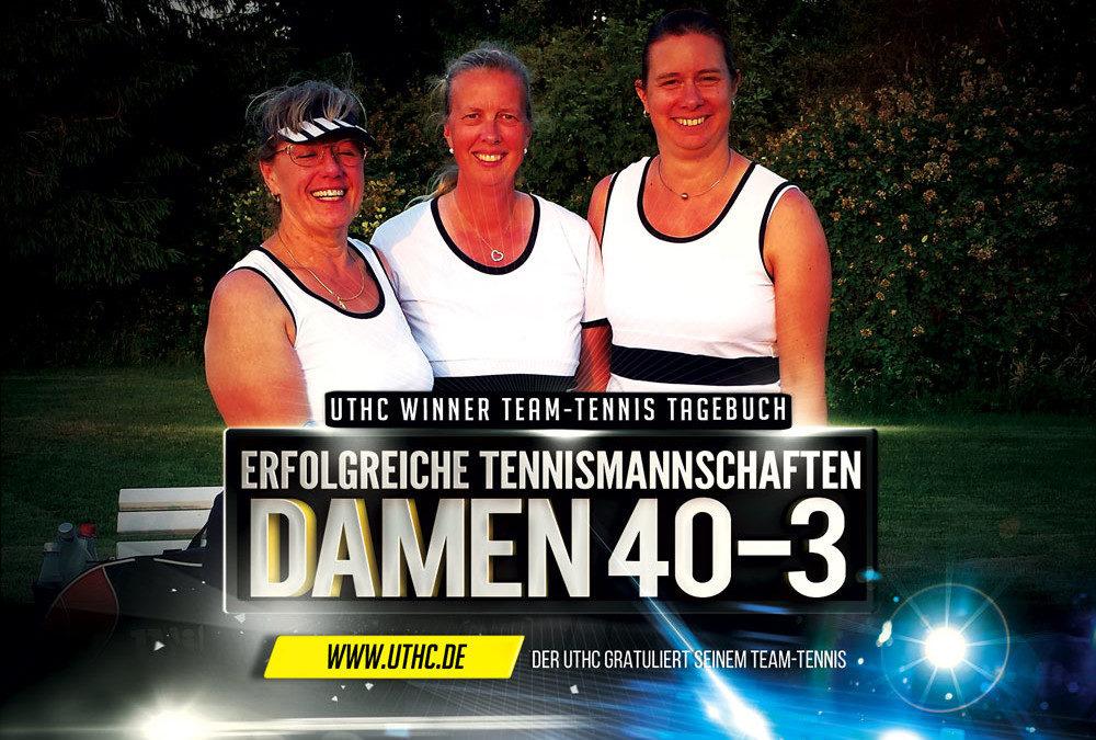 Damen 40-3 Team-Tennis Mannschaft siegt mit 4:2 gegen Stierstadt