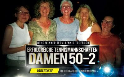 Team-Tennis Mannschaft Damen 50-2 beendet Saison als Tabellenführer
