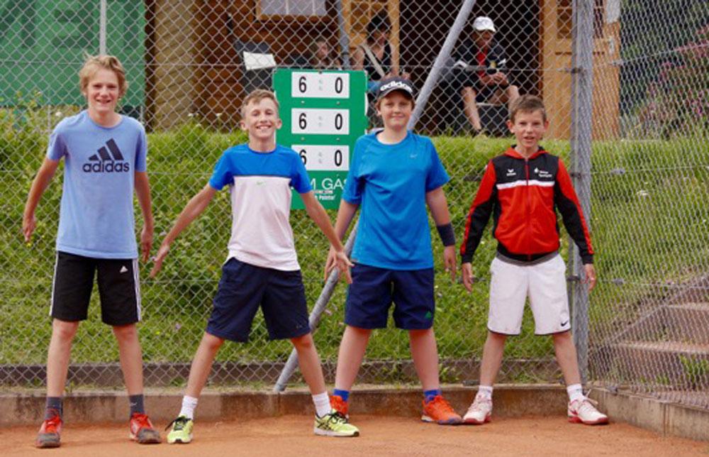 Die ungeschlagene U14 männlich Tennismannschaft des UTHC