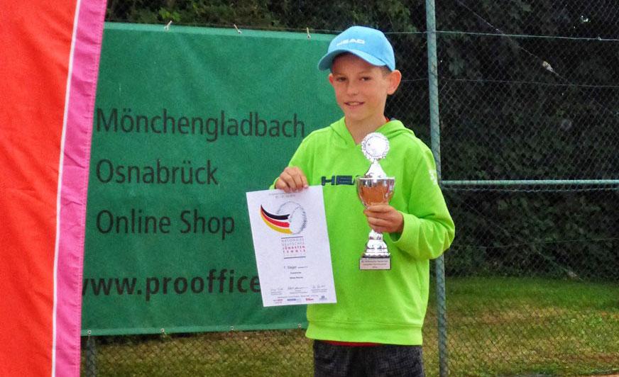 Niklas Baucke stellte jetzt gleich mehrfach sein Tennistalent unter Beweis