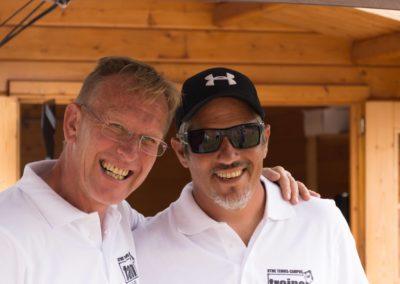 Tennis Cheftrainer des UTHC in Usingen - Carlos Tarantino mit Dirk Rabis