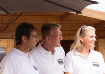 1. Vorsitzender Dirk Rabis mit UTHC-Jugendwart Michael Guth