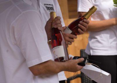 Champagner auf dem Tennis-Campus des UTHC in Usingen