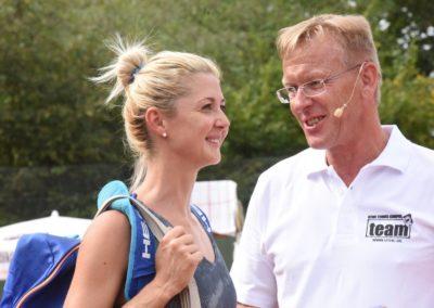 Azra Mann und Dirk Rabis beim UTHC