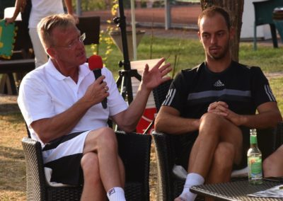 2. Tennis Charity-Event des UTHC in Usingen / Interviews