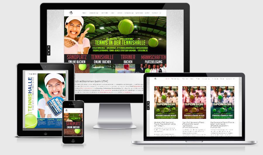 Die responsive Homepage des UTHC: Webseiten und Inhalte präsent auf allen Geräten