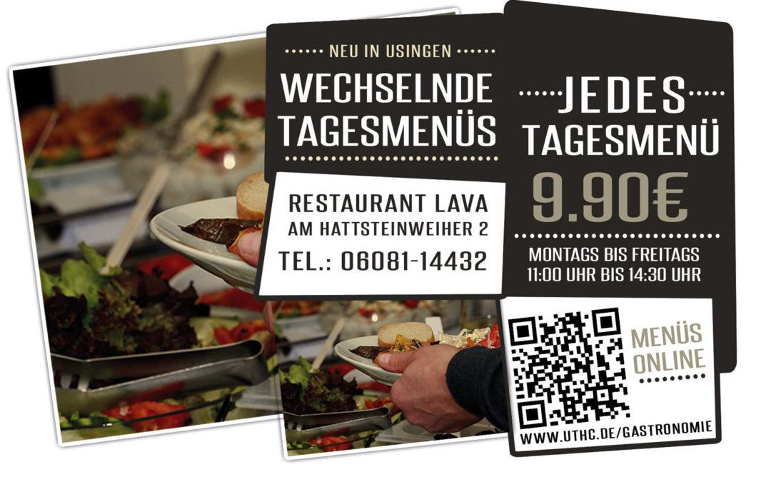 Restaurant Lava in der Tennishalle am Usinger Hattsteinweiher bietet günstige Tagesmenüs an