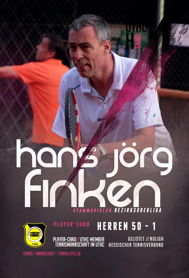 Tennis Spielerportrait 2017: Hans-Jörg Finken / Bezirksoberliga / Herren 50 / Erste Mannschaft / UTHC