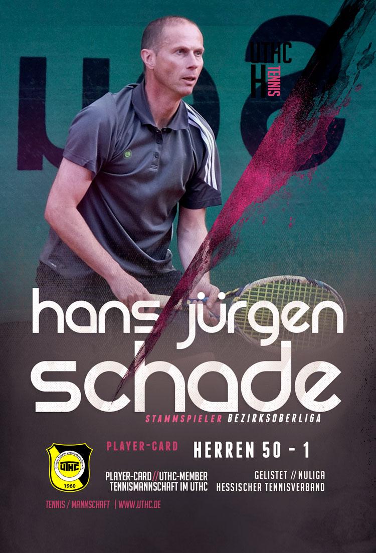 Tennis Spielerportrait 2017: Hans-Jürgen Schade / Bezirksoberliga / Herren 50 / Erste Mannschaft / UTHC