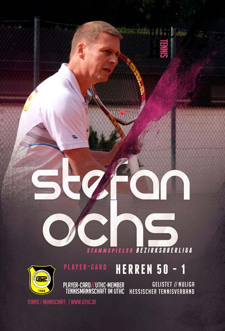 Tennis Spielerportrait 2017: Stefan Ochs / Bezirksoberliga / Herren 50 / Erste Mannschaft / UTHC