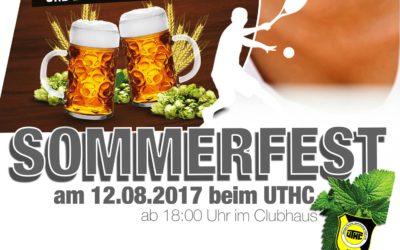 Einladung zum Sommerfest des UTHC am 12.08.2017