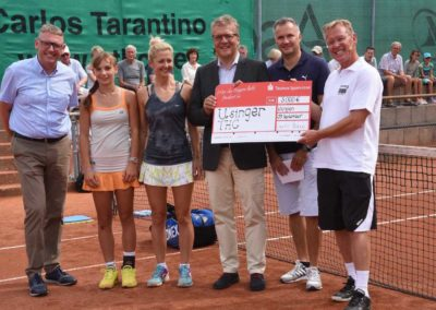 UTHC-Tennis-Charity-Event-2016-Sponsoren-Scheck-Uebergabe-Landrat-Krebs