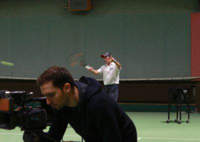 SAT1 Fernsehen beim UTHC. Dreharbeiten in Usingen_0603