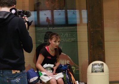 Mara Guth bei Dreharbeiten mit SAT1 Fernsehen beim UTHC_0704