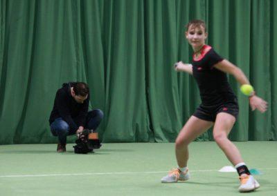 Mara Guth bei Dreharbeiten - SAT1 Fernsehen auf dem Tennis-Campus Usingen_0846
