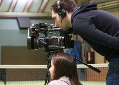 SAT1 Fernsehen Kamerateam bei Dreharbeiten UTHC_0956