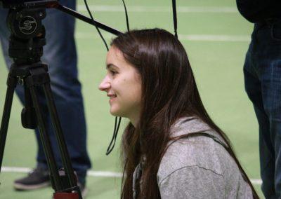 SAT1 Fernsehteam - Strahlende Gesichter bei Dreharbeiten