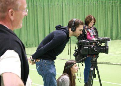 Am Set- SAT1 Fernsehen beim Interview auf dem UTHC Tennis-Campus Usingen - Fernsehreportage_1013