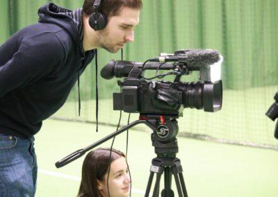 SAT1 Fernsehen beim Interview auf dem UTHC Tennis-Campus Usingen - Fernsehreportage_1020
