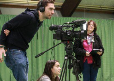 Lokale Presse berichtet über SAT1 Fernsehen auf dem UTHC Tennis-Campus Usingen - Fernsehreportage_1035