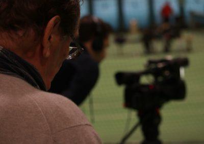 Lokale Presse verfolgt SAT1 Fernsehen auf dem UTHC Tennis-Campus Usingen - Fernsehreportage_1056