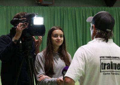 Tennis Cheftrainer Carlos Tarantino im SAT1 Fernsehen. UTHC Tennis-Campus Usingen - Interview_1127