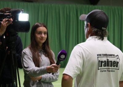 Tennis Cheftrainer Carlos Tarantino im SAT1 Fernsehen. UTHC Tennis-Campus Usingen - Interview_1129