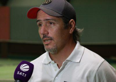 Tennis Cheftrainer Carlos Tarantino im SAT1 Fernsehen. UTHC Tennis-Campus Usingen - Interview_1143