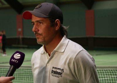 Tennis Cheftrainer Carlos Tarantino im SAT1 Fernsehen. UTHC Tennis-Campus Usingen - Interview_1152