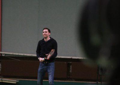 SAT1 Fernseh-Redakteur Andreas Büttner spielt selbst ein paar Bälle mit Mara Guth_1229