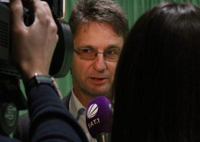 Michael Guth im SAT1 Fernsehen. UTHC Tennis-Campus Usingen - Reportage_1263