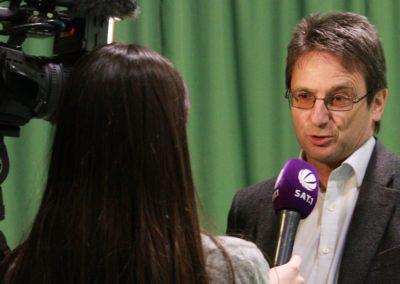 Michael Guth im SAT1 Fernsehen. UTHC Tennis-Campus Usingen - Reportage_1274