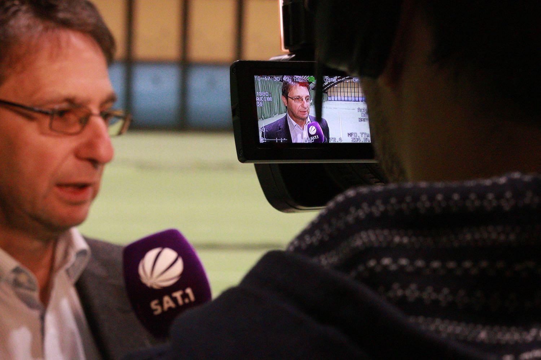 Michael Guth im SAT1 Fernsehen. UTHC Tennis-Campus Usingen - Reportage-1279