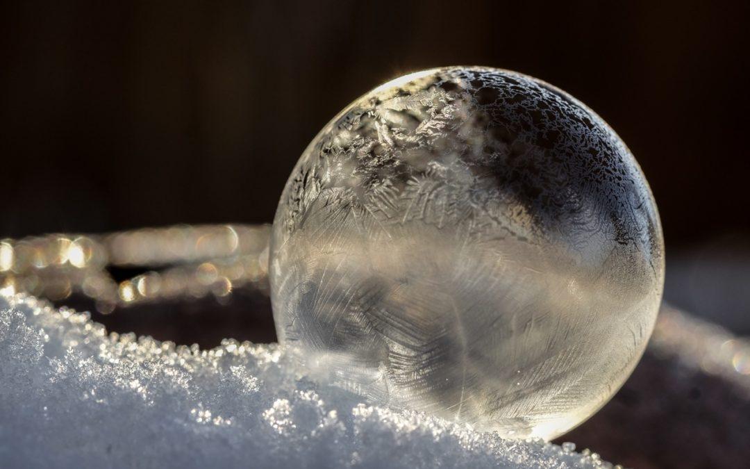 Zauberhafte UTHC-Winterimpressionen mit Eiskristall-Seifenblasen
