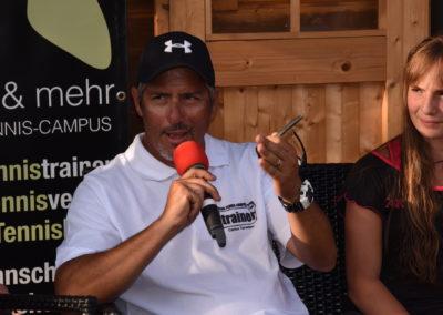 Interview mit Tennis-Cheftrainer Carlos Tarantino beim zweiten Tennis Charity-Event 2016 des UTHC