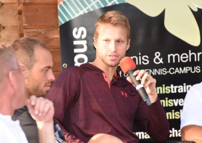 Interview mit Tennisprofi Steven Moneke beim zweiten Tennis Charity-Event 2016 des UTHC