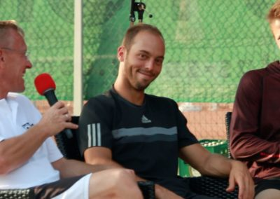 Interview mit Tennisprofi Tim Pütz beim zweiten Tennis Charity-Event 2016 des UTHC