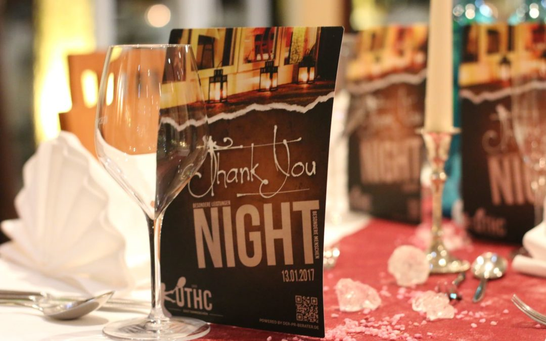 UTHC Thank You Night 2017 mit Tennisprominenz, Sponsoren und Förderern