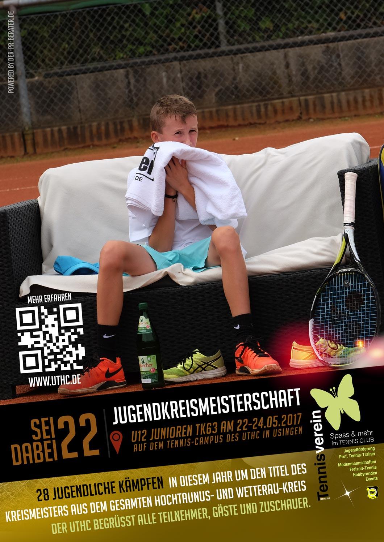 Einladung zur U12 Jugendkreismeisterschaft des TK 63 vom 22-24.05.2017 live auf dem Tennis-Campus des UTHC in Usingen