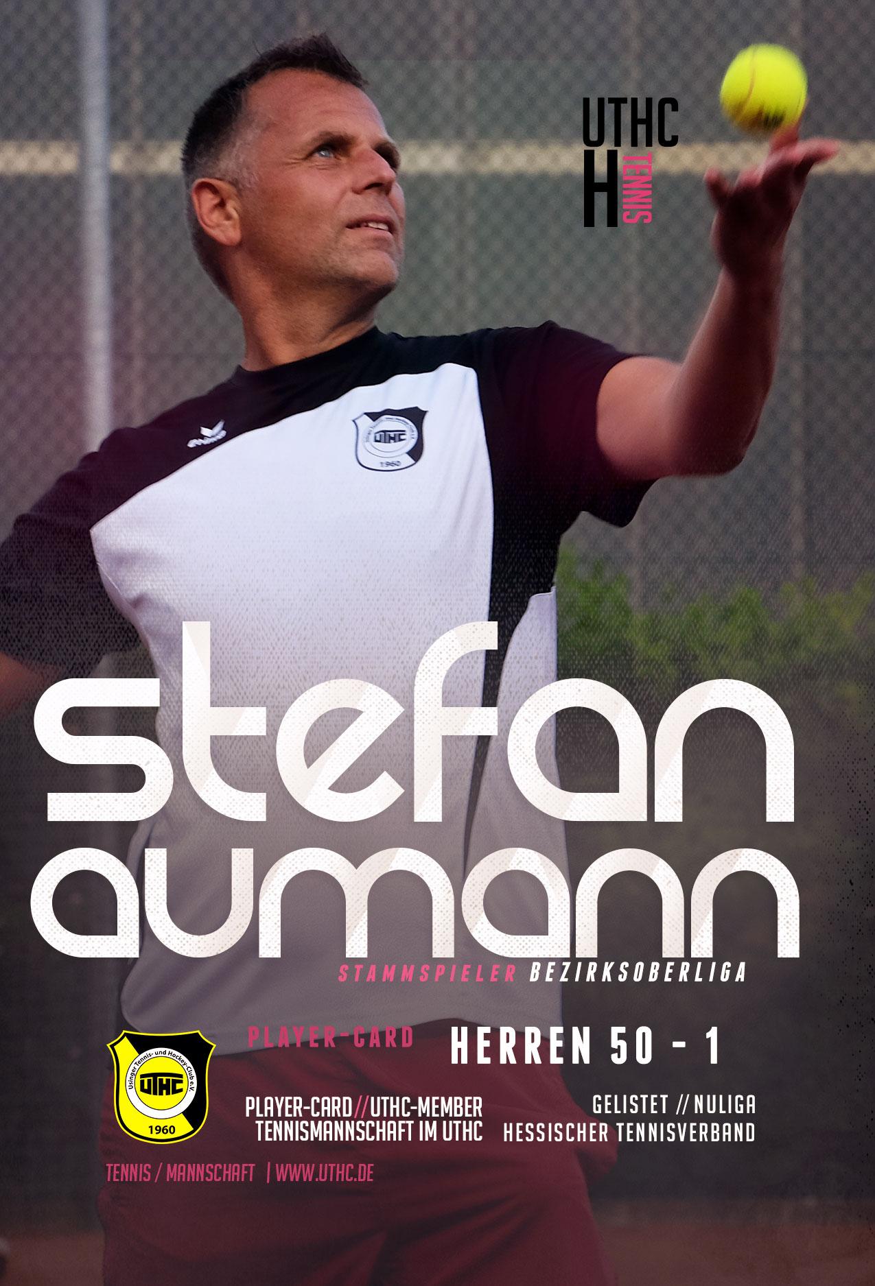 Tennis Spielerportrait 2017: Stefan Aumann / Bezirksoberliga / Herren 50 / Erste Mannschaft / UTHC