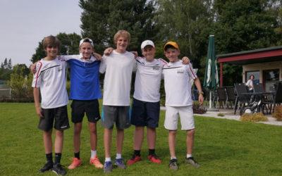 Erste U14 Mannschaft steigt mit 42:0 Matchpunkten in die Bezirksliga auf
