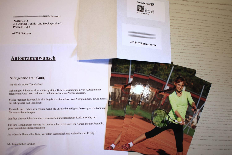 Ein Autogramm von Mara Guth des UTHC ist sehr gefragt. So erreichen den UTHC Anfragen aus ganz Deutschland.