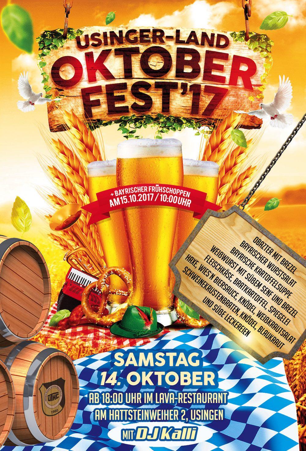 Das offizielle UTHC-Oktoberfest Plakat 2017