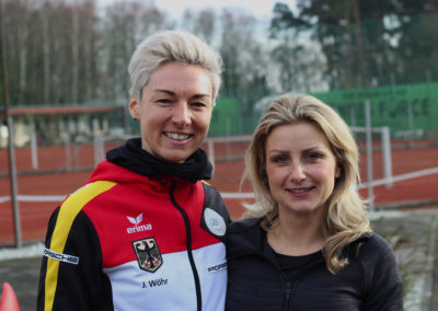 Deutsche Bundestrainerin Jasmin Wöhr mit Koordinationstrainerin Myriam Färber des UTHC beim UTHC 01-2018