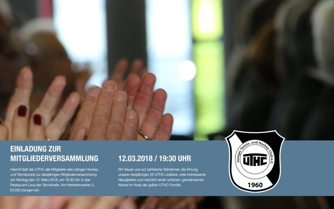 Einladung zur Mitgliederversammlung am 12.03.2018 um 19:30 Uhr