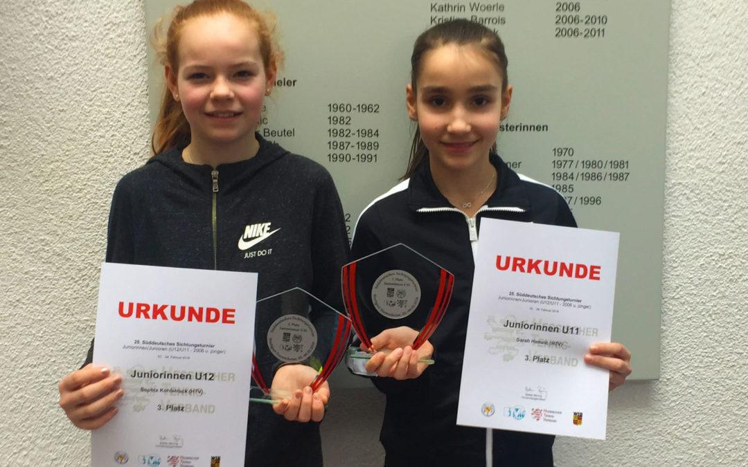 Sophia Kohlstruck und Sarah Hamzic des UTHC erfolgreich beim Süddeutschen Sichtungsturnier in Stuttgart