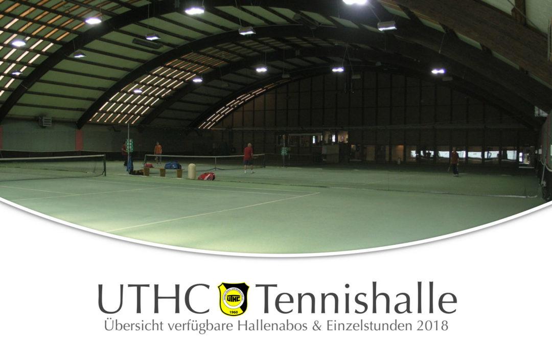 Lust auf ein sicheres Winterabo 2018/2019 in der Tennishalle des UTHC?